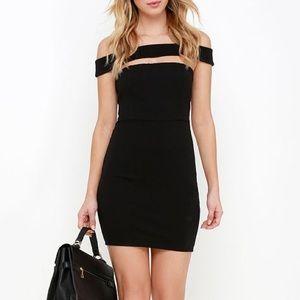 LuLu's | Off Shoulder Black Dress